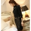 เสื้อเชิ้ตทำงานแขนยาวสีดำ คอเต่าประดับพลอย เรียบหรู thumbnail 5