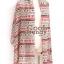 ผ้าพันคอโบฮีเมียน Nordic ethnic : สีแดงครีม ผ้า chiffon size 160 x 60 cm thumbnail 7
