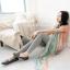 ผ้าพันคอลายวินเทจ Vintage : ผ้าพันคอ Viscose - size 170x70 cm สีชมพูเขียว thumbnail 5