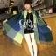ผ้าพันคอ ผ้าคลุมพัชมีนา Pashmina ลายตาราง size 200x60 cm- สี Green Blue thumbnail 9