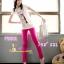 #SKINNYฮิตฮอตแฟชั่นเกาหลีเก๋สุดๆPB201 ClassicSkinny กางเกงสกินนี่ Skinny ผ้ายืดเนื้อหนา ผ้านิ่ม รุ่นนี้ทรงสวยใส่สบาย ไม่มีไม่ได้แล้ว สีชมพู XXL thumbnail 1