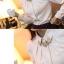 เสื้อทำงานผู้หญิงแขนยาวสีขาวน่ารักๆ ผ้าใส่สบาย thumbnail 4