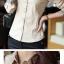 เสื้อเชิ้ตทำงานผู้หญิง สีน้ำตาลอ่อน โบว์สก๊อต thumbnail 2