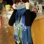 ผ้าพันคอ ผ้าคลุมพัชมีนา Pashmina ลายตาราง size 200x60 cm- สี Green Blue thumbnail 11
