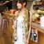 ผ้าพันคอ ผ้าคลุมไหล่ ลายดาว Stars สีน้ำตาล - ผ้าพันคอ Silk Chiffon - size 170*70 cm thumbnail 8