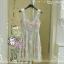 พร้อมส่ง สไตล์ Japanese ViVi 3D Flower dress ATA494 เดรสลูกไม้สองชั้นแขนกุด ติดดอกไม้สามมิติ ผ้าลูกไม้น่ารักสุดๆ โทนฟ้า stock574 thumbnail 3
