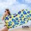 ผ้าคลุมชุดว่ายน้ำ ผ้าคลุมชายหาด ผ้าชายทะเล SH781 : ผ้าชีฟอง size 140x80 cm (มีสายคล้องแขน) thumbnail 3
