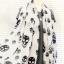 ผ้าพันคอลายหัวกะโหลก Skull pattern scarf : สีขาวดำ : ผ้าพันคอชีฟอง - size 170*70 cm thumbnail 5