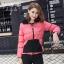เสื้อแจ็คเก็ตกันหนาวสาวอวบ ซื้อ 1 ได้ถึง 3 สามารถใส่ได้ถึง 3 แบบ (F,XL,2XL,3XL) E3302