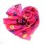 ผ้าพันคอลาย Kiss me : สี Neon pink ผ้า Chiffon 160 x 60 cm thumbnail 7