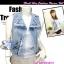 แฟชั่นสตรีทชิค TB680:Denim Vest:เสื้อกั๊กยีนส์เดนิมติดหมุด แต่งซิบแบบสุดเก๋ แบบเดียวกับงาน H&M สียีนส์อ่อน thumbnail 1