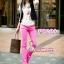 SKINNY ฮอตแฟชั่นเกาหลีเก๋สุดๆPB204 ClassicSkinny กางเกงสกินนี่ Skinny ผ้ายืดเนื้อหนา ผ้านิ่ม รุ่นนี้ทรงสวยใส่สบาย ไม่มีไม่ได้แล้ว สีชมพูอ่อน ไซส์ M thumbnail 1