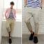 กางเกงผู้ชาย | กางเกงแฟชั่นผู้ชาย กางเกงขาห้าส่วน แฟชั่นเกาหลี thumbnail 1