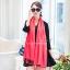 ผ้าพันคอ ผ้าคลุมพัชมีนา Pashmina scarf size 160 x 60 cm - สีชมพูพีช thumbnail 1