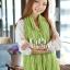 ผ้าพันคอแฟชั่น Cotton Candy : สี Apple Green thumbnail 5