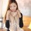 ผ้าพันคอแฟชั่น Cotton Candy : สี camel size 85 x 180 cm thumbnail 3