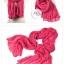 ผ้าพันคอแฟชั่น Cotton Candy : สี Rose Pink thumbnail 2