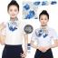 ผ้าพันคอสำเร็จรูป ผ้ายูนิฟอร์ม uniform ผ้าไหมซาติน : L556 thumbnail 1