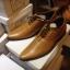 รองเท้าผู้ชาย | รองเท้าแฟชั่นชาย Tan Cut Shoes หนังวัวแท้ ขัดเงา thumbnail 1