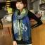 ผ้าพันคอ ผ้าคลุมพัชมีนา Pashmina ลายตาราง size 200x60 cm- สี Green Blue thumbnail 5