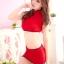 กี่เพ้าแดงขอบดำ เอวลอย คอจีน เซ็กซี่ thumbnail 4