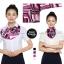 ผ้าพันคอสำเร็จรูป ผ้ายูนิฟอร์ม uniform ผ้าไหมซาติน : L23 thumbnail 1