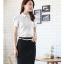เสื้อเชิ้ตทำงานผู้หญิงแขนสั้น สีขาว thumbnail 3