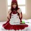 ชุดเมดสีชมพูเอี๊ยมขาว ชุดคอสเพลย์ ชุดแม่บ้านน่ารัก ชุดแฟนซีเครื่องแบบ ชุดแฟนซีญี่ปุ่น ชุดแฟนซีสีแดง thumbnail 1