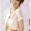 เสื้อคาร์ดิแกนcropped ชีฟอง สีชมพู (XL,2XL,3XL) JK~1127