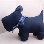 Westie Softy Toy - BLACK