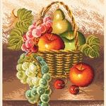 ลาย DMC ผลไม้องุ่น แอปเปิ้ล แพร์ เชอร์รี่