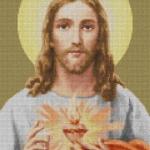 พระเยซู (ภาพสี-มีรัศมี)