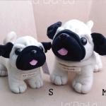 Pug Softy Toy - M WHITE