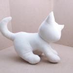 Kitten Cat Softy Toy - White