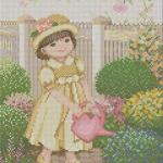 เด็กหญิงในสวน