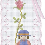 Bookmark เด็กถือดอกไม้
