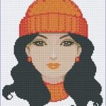 หมวกไหมพรมส้ม