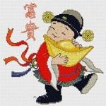 เด็กจีนอุ้มตำลึงทอง - ร่ำรวยเงินทอง