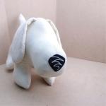 Basset Hound Softy Toy - WHITE