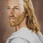 พระเยซู (ภาพสี-ชุดขาว)