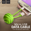HOCO U3 สายชาร์จลูกบอล พกพาสะดวก สำหรับ iOS และ Micro USB thumbnail 4