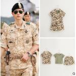 ชุดเซท 3 ชิ้น เสื้อ กางเกง ลายทหาร กัปตันยู