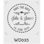 ตราปั๊มงานแต่ง WD035 - 3*3 ซม.