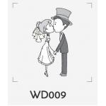 ตราปั๊มงานแต่ง WD009 - 3*3 ซม.