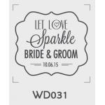 ตราปั๊มงานแต่ง WD031 - 3*3 ซม.
