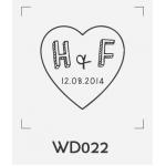 ตราปั๊มงานแต่ง WD022 - 3*3 ซม.