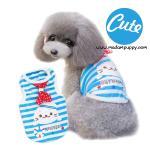 เสื้อกล้ามหมา ลายแมวน้ำ สีฟ้า ไซส์ XL