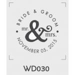 ตราปั๊มงานแต่ง WD030 - 3*3 ซม.