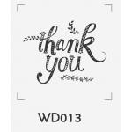 ตราปั๊มงานแต่ง WD013 - 3*3 ซม.