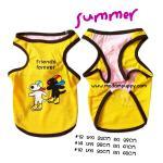 เสื้อกล้ามหมา Gaspard Et Lisa สีเหลือง ไซส์ 16